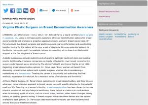 plastic surgeon, plastic surgery, breast reconstruction, lumpectomy, mastectomy, leesburg va