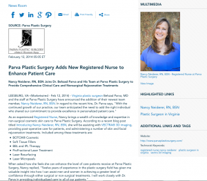 virginia plastic surgeon, registered nurse, vectra 3d imaging