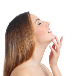 Profile of a beauty woman
