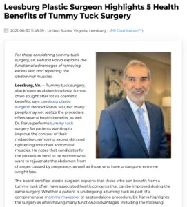 Dr. Parva explains functional benefits of abdominoplasty as a result of muscle tightening during the procedure.